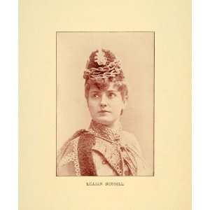 1894 Print Lillian Russell Stage Actress Singer Theatre