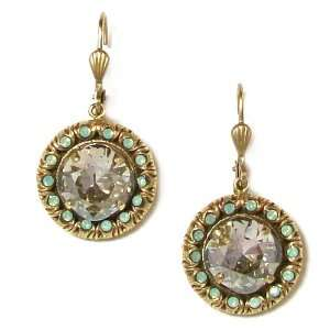 Catherine Popesco 14K Gold Plated Clear Crystal and Pacific Opal