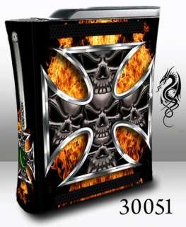 XBOX 360 Skin   30051 .skulls iron cross on fire