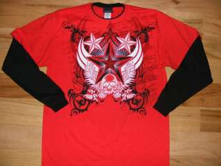 NEW Boys 4 Long Sleeve Skull Rock Tattoo Shirts Lot SM