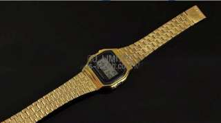 NEW Classic Fashion Gold Color Metal odm Watch With LED Alarm Clock