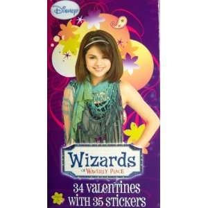 Wizards of Waverly Place 34 Valentines Day Cards and 35