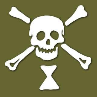 Emanuel Wynne Jolly Roger Pirate Vinyl Sticker VLEWJR