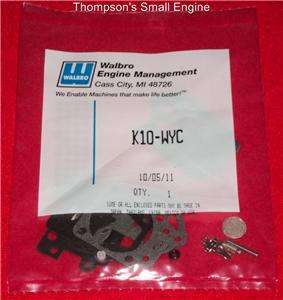 Walbro K10 WYC OEM. Carburetor Rebuild Kit Fits Many Applications