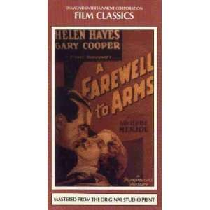 A Farewell to Arms [VHS] Helen Hayes, Gary Cooper, Frank