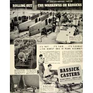 Wings WWII War Production Aviation   Original Print Ad