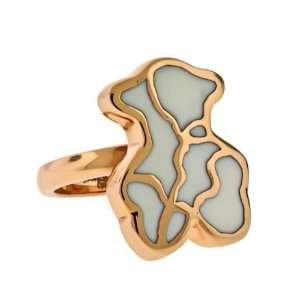 18K ROSE Gold Plated TEDDY BEAR Stainless Steel Ring