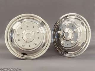 2003 2011 FORD 19.5 x 6 Stainless Dually Wheel Simulators Liners 10