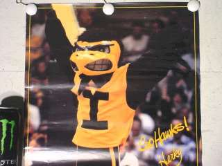 Iowa Hawkeye Herky Mascot Basketball Football Wrestling Poster