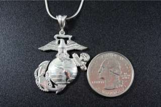 25 Solid Marine Corps Eagle Globe and Anchor Pendant