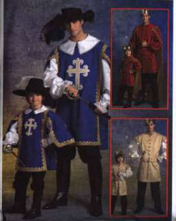 Child Boy PRINCE MUSKETEER COSTUME PATTERN Sz 3  8 NEW