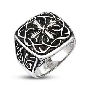 Cross Plate Wide Cast Ring   Size 14 West Coast Jewelry Jewelry