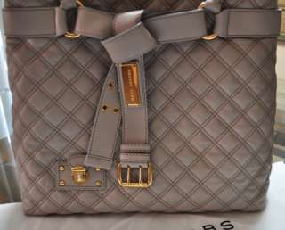 NEW Marc Jacobs Casey Quilted Leather Bag Purse Beige NEW $1,295