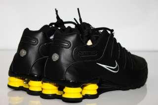 New Nike Shox NZ Running Shoes Black Yellow Air Max 360 Turbo Kobe