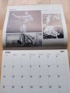SCHWARZENEGGER bodybuilding muscle calendar with workout exercises