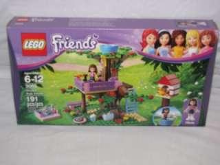 LEGO FRIENDS LOT OF 8 OLIVIA HOUSE 3315 HEARTLAKE 3942 TREE HOUSE 3065
