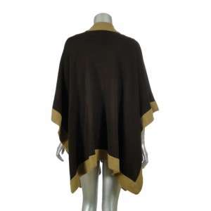 Sutton Studio Womens Brown Topper Wrap Sweater One Size