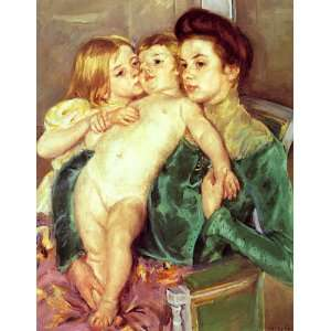 Mary Stevenson Cassatt   32 x 42 inches   The Caress: Home & Kitchen