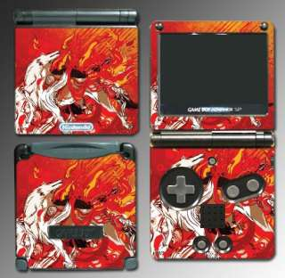 Okami Wolf Game Decal Skin Cover #3 for Nintendo GBA SP