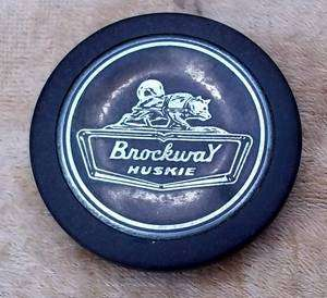 Rare 60s Brockway truck steering wheel horn button