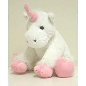 15 Inch Satin White Unicorn Plush Stuffed *NO SEW* Animal