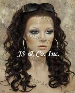 100% Human Hair Lace Front Wig Dark Brown Wig HS MK