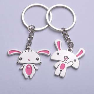 Pair New Arrival Super Cute Rabbit Key Chain/Ring Gift