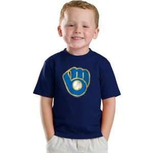 Milwaukee Brewers Youth Navy Cooperstown Retro Logo T