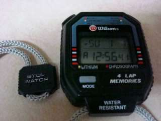 Wilson Lithium Chronograph 4 Lap Memories Water Resistant Hand Held