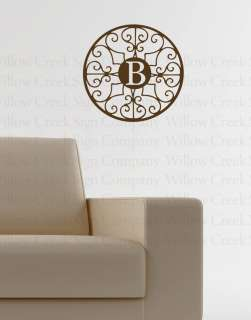 Monogram Vinyl Wall Lettering Art Words Decal Quotes