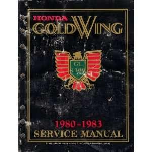 Honda Gold Wing GL1100 Service Manual 1980 1983 American Honda