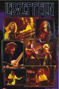 MUSIC POSTER ~ LED ZEPPELIN LIVE COLLAGE Robert Plant