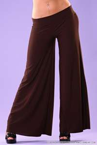 PLUS SIZE LONG GAUCHO PALAZZO BOHO WIDE FLARE LEG PANTS DANCE