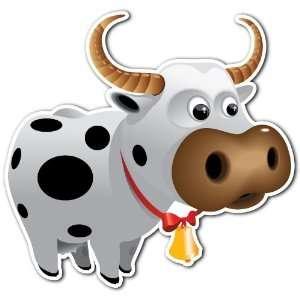 Cute Cow Kids Cartoon Bathroom Room Car Bumper Sticker