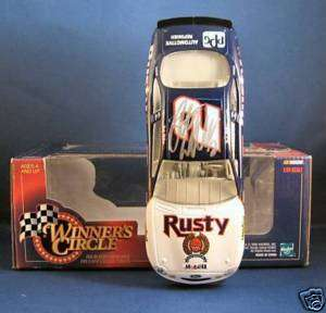 Rusty Wallace signed 124 1998 Mobil Winners Circle Car