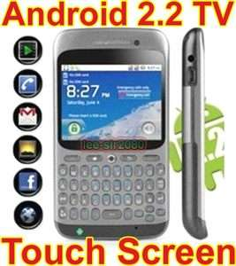 GSM Unlocked Quad band Dual SIM WIFI TV Android 2.2 Mobile cell phone