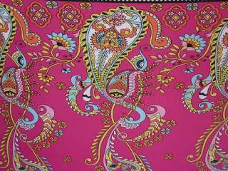 YARDS & 10 STRETCH POLY LYCRA FABRIC BEAUTIFUL PRINT DOUBLE BORDER
