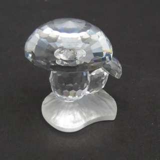 Vintage Swarovski Crystal Toadstools Mushrooms 7472 Boxed a9