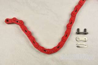 YBN Color Single Speed Bike Chain Fixie BMX Track   Red