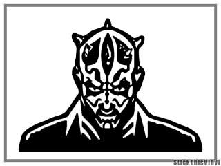 Darth Maul Star Wars Decal Vinyl Sticker (2x)