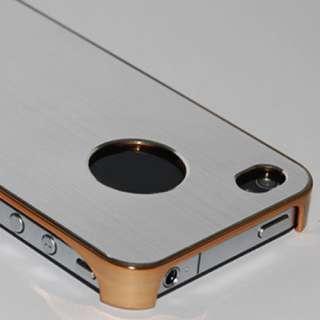 Slim Metal Aluminum Plating Hard Back Case Cover F iPhone 4 4S Verizon
