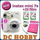 Fuji instax mini 7s Fujifilm instant Polaroid camera 50 film items in