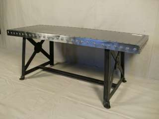 Metal/Industrial Style Decorative Coffee Table (8103)r