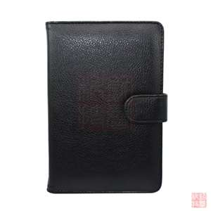 Black Leather Case Cover for  Kindle Fire 7 Tablet (2011 Model