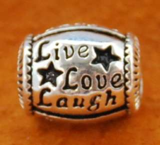 European Charm LIVE LOVE LAUGH, BABY CART, DAD, COUPLE HOLDING