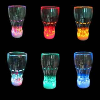 Package 1x 7 Colors Change LED Night Light Lamp Coke Cup Gift Ieda