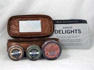 NEW Bare Escentuals id Minerals NATURAL DELIGHTS Eyeshadows Bag Kit