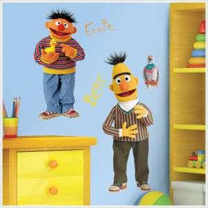 BERT & ERNIE Wall Stickers SESAME STREET Nursery Decals 034878834566