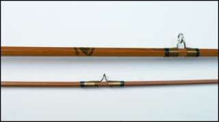French Pezon et Michel split cane fly fishing rod bamboo for silk line