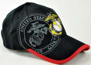 NEW US MARINE CORPS CAP HAT USMC A3 BLACK